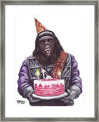 Gorilla Party Framed Print by Mark Tavares