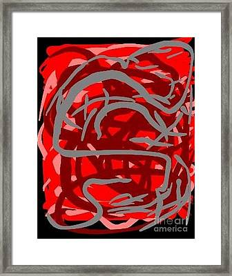 Gorked Tongue Framed Print by James Eye