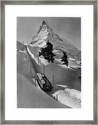 Gornergrat Rack Railway Framed Print by Cci Archives