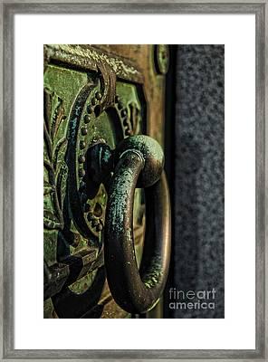 Goth - Crypt Door Knocker Framed Print by Paul Ward