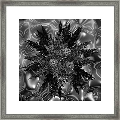 Goth Funeral Wreath Framed Print by First Star Art