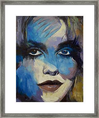 Goth Girl Framed Print by Michael Creese