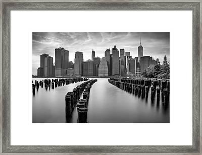 Gotham City New York City Framed Print by Susan Candelario
