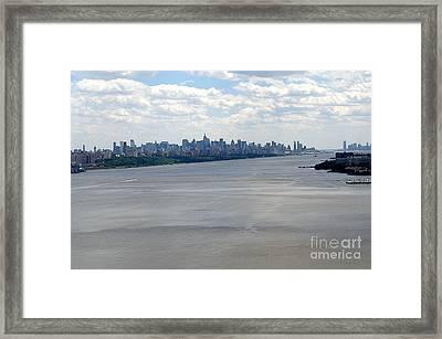 Gotham On The Hudson Framed Print by David Bearden