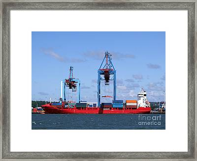 Gothenburg Harbour 09 Framed Print by Antony McAulay