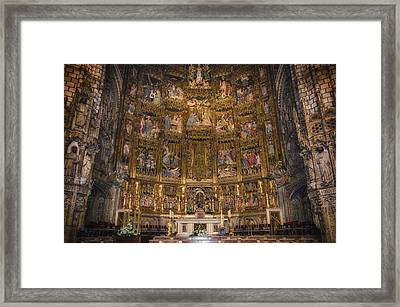 Gothic Altar Screen Framed Print by Joan Carroll