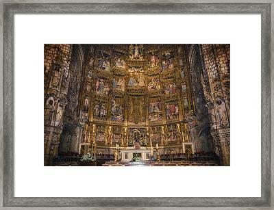Gothic Altar Screen Framed Print by Joan Carroll