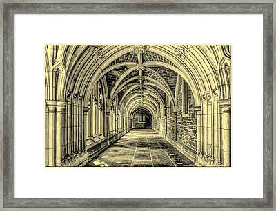 Gothic Arches At Princeton University In New Jersey Framed Print by Geraldine Scull