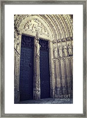 Gothic Cathedral Toledo Framed Print by Ivy Ho