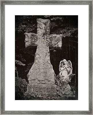 Gothic Cross Framed Print by Chalet Roome-Rigdon