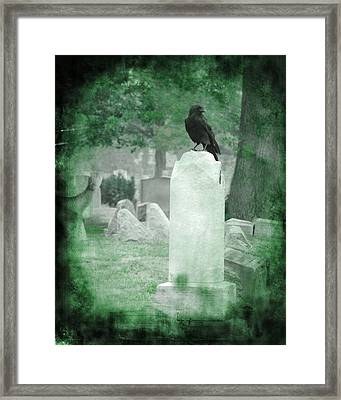 Gothic Green Framed Print by Gothicolors Donna Snyder