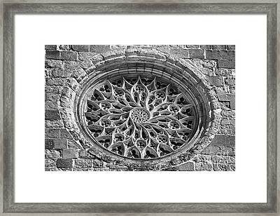 Gothic Rosette Framed Print by Jose Elias - Sofia Pereira