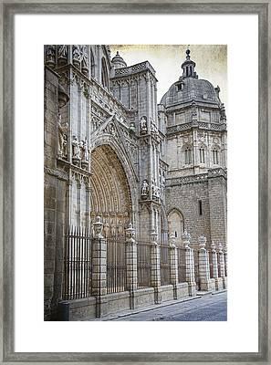 Gothic Splendor Of Spain Framed Print by Joan Carroll