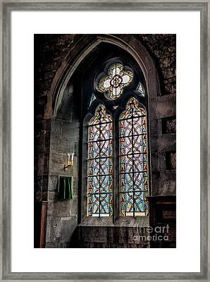 Gothic Window Framed Print by Adrian Evans