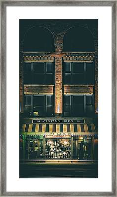 Goudas Italian Deli Color Framed Print by Scott Norris