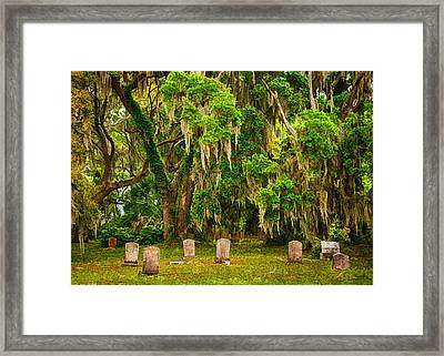Gould's Cemetery Framed Print by Priscilla Burgers