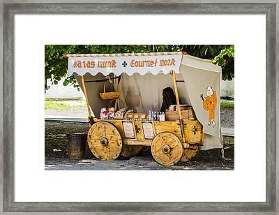 Gourmet Monk - Tallin Estonia Framed Print by Jon Berghoff