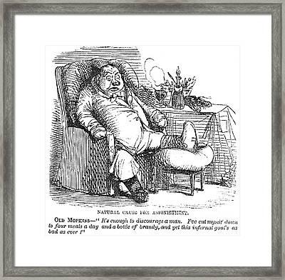 Gout Cartoon, 19th Century Framed Print by Granger
