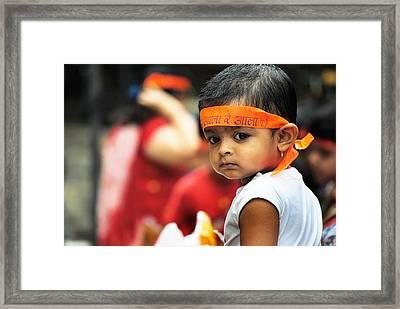 Govinda Kid Framed Print by Money Sharma