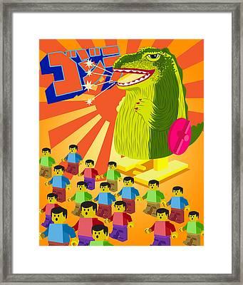 Gozirra Framed Print by Timothy Ramos