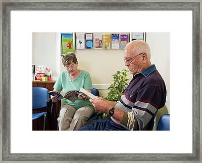 Gp Surgery Waiting Room Framed Print by Jim Varney