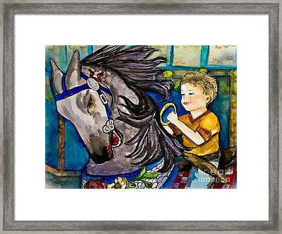Grab The Brass Ring Framed Print by Colleen Kammerer