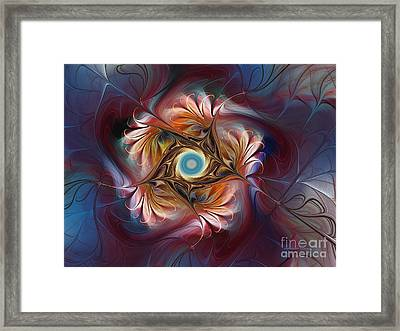 Grace And Elegance-floral Fractal Design Framed Print by Karin Kuhlmann