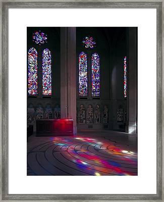 Grace Cathedral Walking Labyrinth - San Francisco Framed Print by Daniel Hagerman