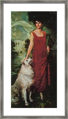 Grace Coolidge, First Lady Framed Print by Science Source