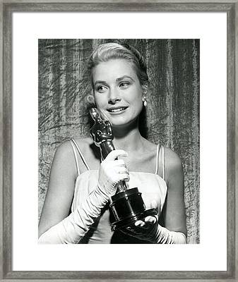 Grace Kelly At Awards Show Framed Print by Retro Images Archive