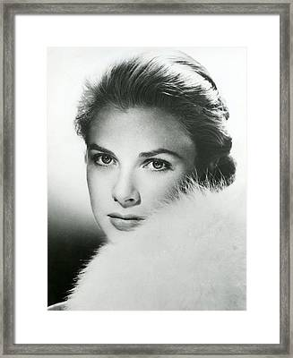Grace Kelly Close Up Framed Print by Retro Images Archive