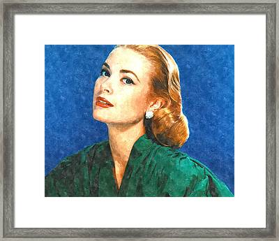 Grace Kelly Painting Framed Print by Gianfranco Weiss