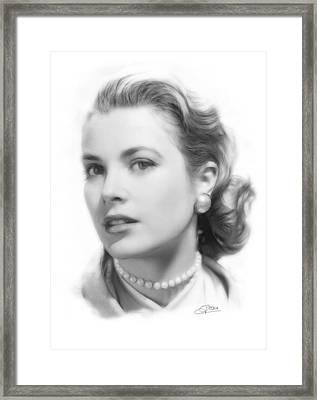 Grace Kelly Pencil Framed Print by Steve K