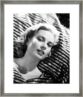 Grace Kelly Framed Print by Silver Screen