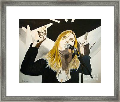 Grace Potter At The Peel Framed Print by Stuart Engel