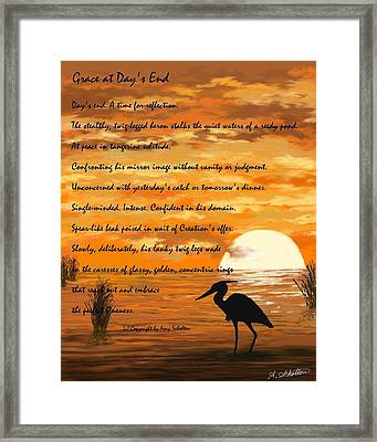 Grace With A Poem Framed Print by Amy Scholten