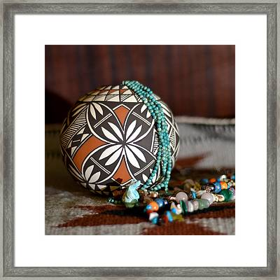 Graceful Pottery 2 Framed Print by Mary Zeman