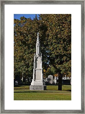 Graceland Cemetery - Garden Of The Dead Framed Print by Christine Till