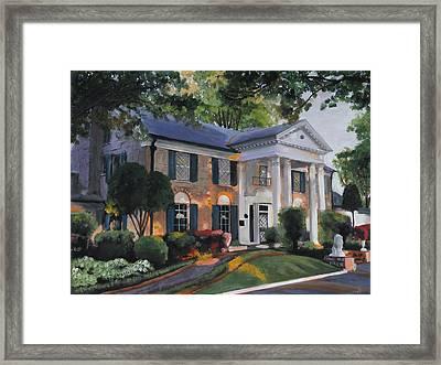 Graceland Home Of Elvis Framed Print by Cecilia Brendel