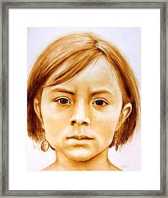Gracie Framed Print by Julee Nicklaus