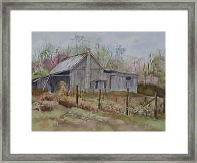 Grady's Barn Framed Print by Janet Felts