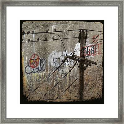 Graffiti And Birds Collage Framed Print by Gothicolors Donna Snyder