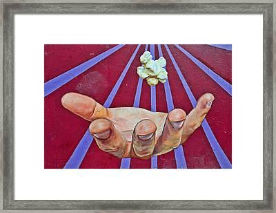 Graffiti Art - The Hand Framed Print by Christine Till