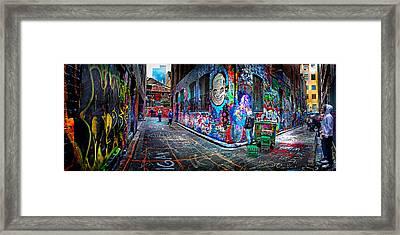 Graffiti Artist Framed Print by Az Jackson