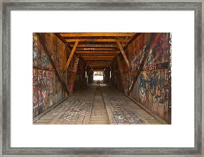 Graffiti Framed Print by Charles Beeler