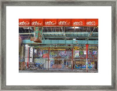Graffiti Gallery Framed Print by David Birchall