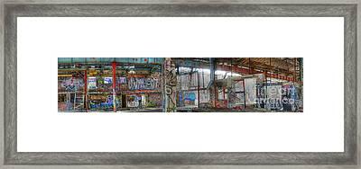 Graffiti Heaven Panorama Framed Print by David Birchall