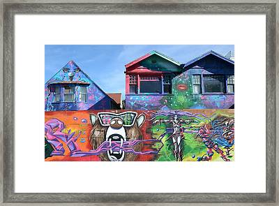 Graffiti House Framed Print by Fraida Gutovich