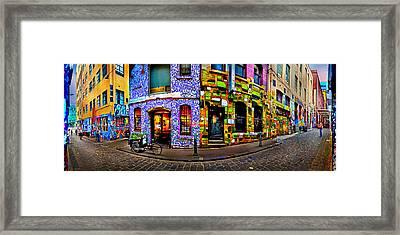 Graffiti Lane   Framed Print by Az Jackson