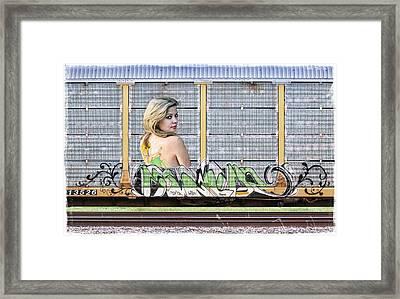 Graffiti - Tinkerbell Framed Print by Graffiti Girl
